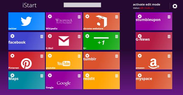 Stiloni faqet (new tab) në Chrome me dizajnin e ndërfaqes të sistemit Windows 8