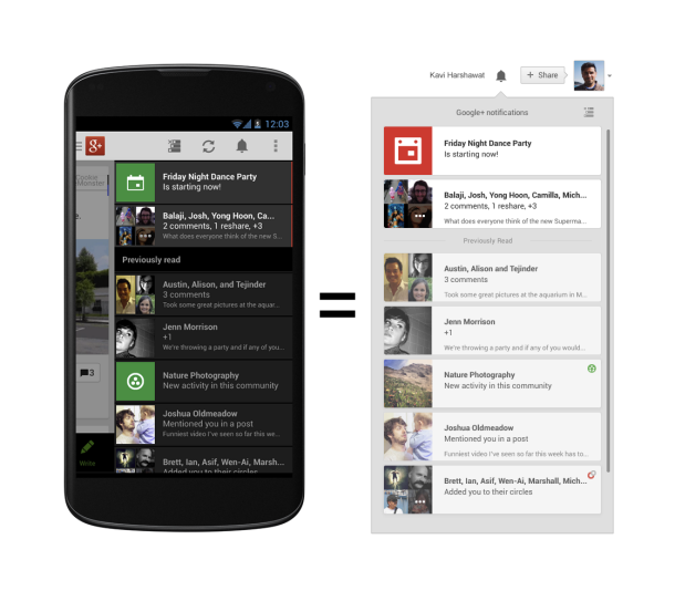 Përditësohet Google+ për Android