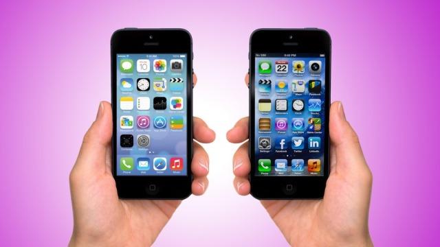 Ndryshimi i ikonave midis iOS 6 dhe iOS 7
