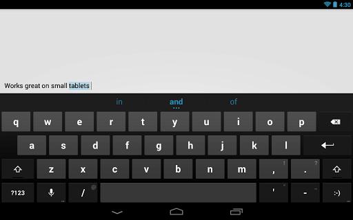 tastiera android