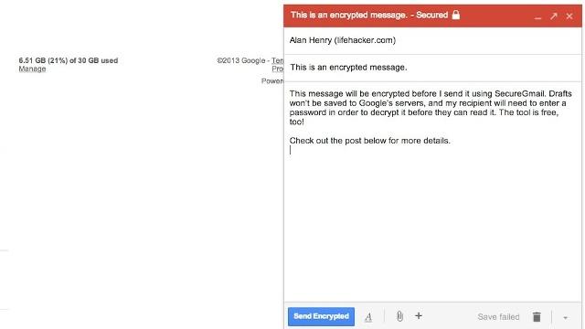 Me SecureGmail enkriptoni mesazhet tuaja në Gmail me një klikim të vetëm