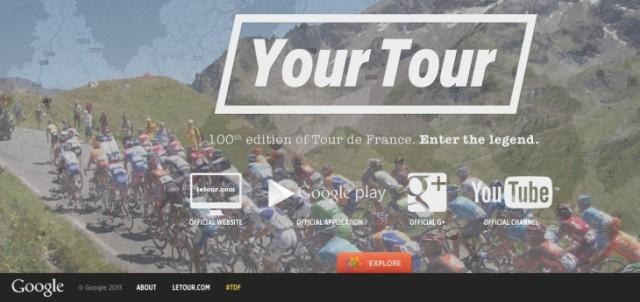 Google Street View ju çon në Tour de France