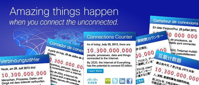 """Cisco numëron në kohë reale objektet e lidhura në """"Internetin e Gjithçkaje"""""""