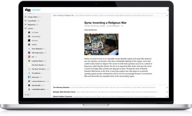 Pas tre muaj punë, Digg Reader është i hapur për publikun