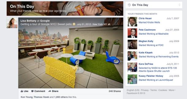 "Facebook bëhet ""nostaligjik"" me lançimin e opsionit ""On This Day"""