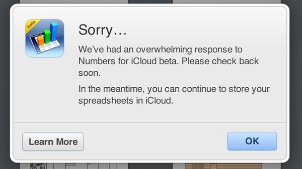 Apple kufizon qasjen në iWork për iCloud për shkak të numrit të madh të përdoruesve