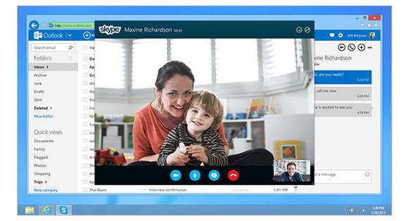 Microsoft fillon integrimin e Outlook.com me Skype