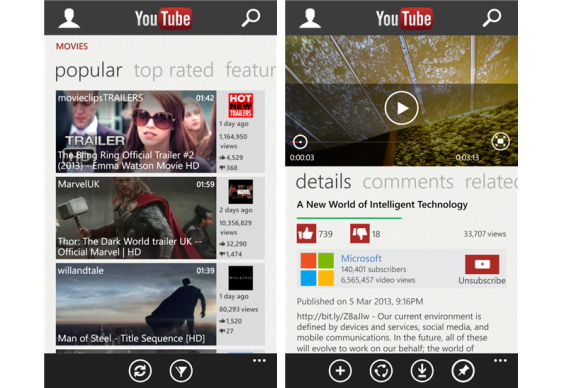 Google bllokon sërish aplikacionin YouTube për Windows Phone