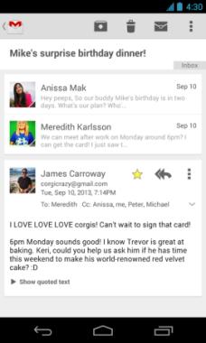 Gmail për Android sjell disa ndryshime