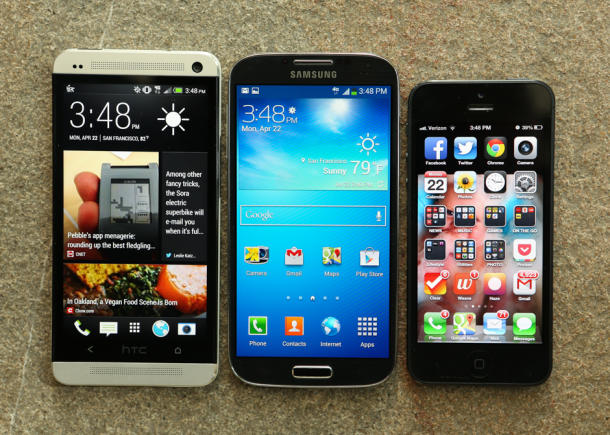 Samsung Galaxy S4 vs Iphon