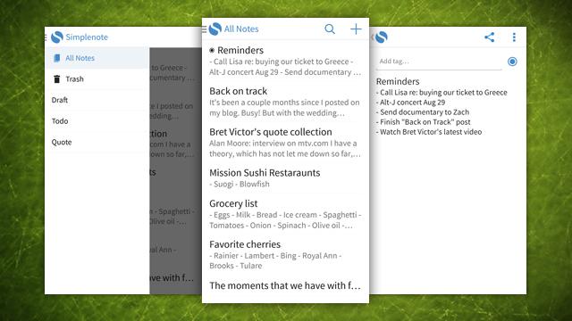 SimpleNote vjen në Android, ofron sinkronizim të shpejt të shënimeve