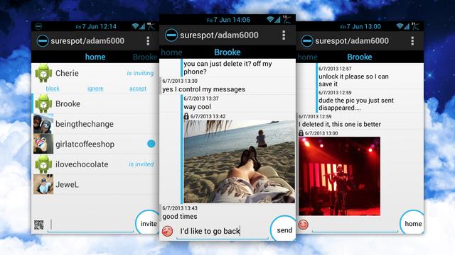 Aplikacioni Surespot për Android ofron rrugë të enkriptuara për të dërguar mesazhe