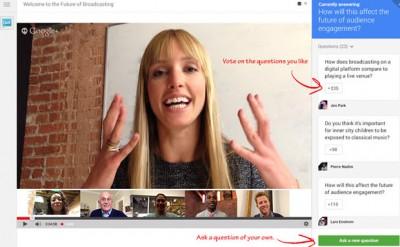 Google+ shton veçorinë për pyetje dhe përgjigje në Hangouts On Air