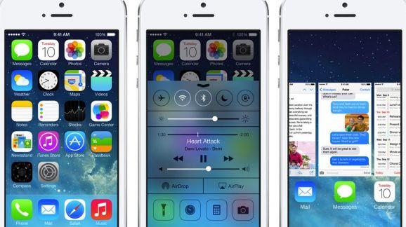 iOS 7 on iPhone