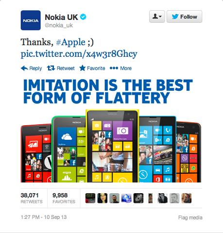"""Cicërima """"Faleminderit Apple"""" nga Nokia, njëra nga brendet më të ri-cicëruara"""
