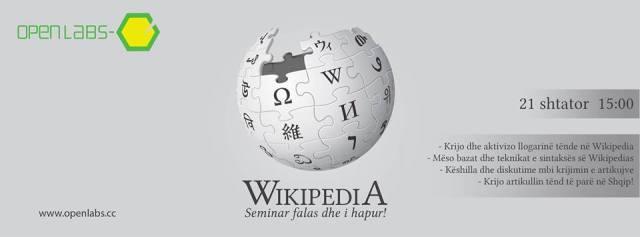Seminar falas dhe i hapur për Wikipedia-n në Tiranë