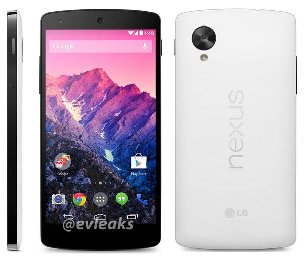 Nexus 5 i bardhë i Google mund të lançohet më 1 nëntor