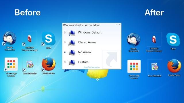 Si mund të largoni ose ndërroni shigjetën e kopjes së ikonës në Windows