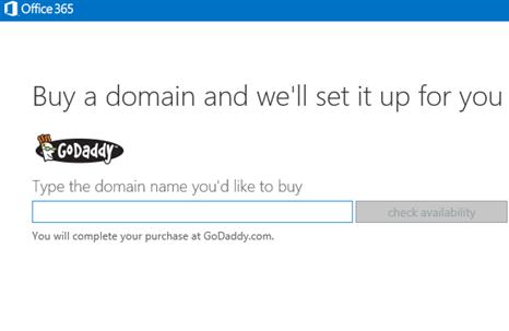 Konsumatorët e Microsoft tani mund të blejnë emrat e domeinëve të Go Daddy nga Office 365