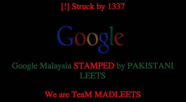 Faqja kryesore e Google Malajzia sulmohet nga hakerët