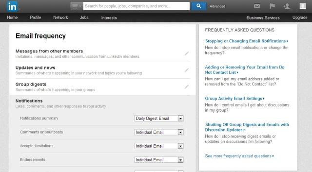 Ja se si të largoni abonimin nga e-mailet në LinkedIn