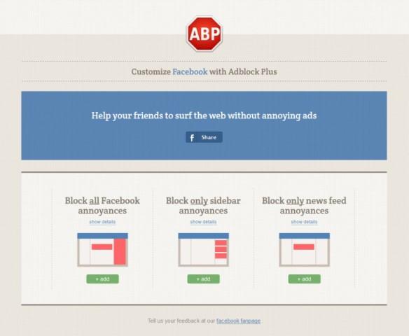 Jo vetëm reklama: Adblock Plus ju mundëson të bllokoni edhe elemente të tjera në Facebook