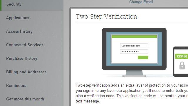 Evernote aplikon verifikimin me dy faktorëve për të gjithë përdoruesit