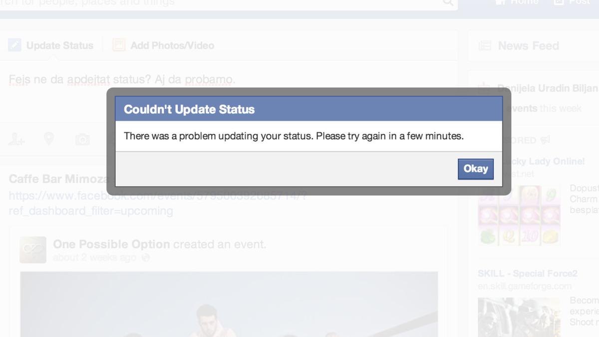 Facebook-u shfaqi probleme gjatë ditës së hënë