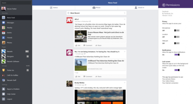facebook windows8