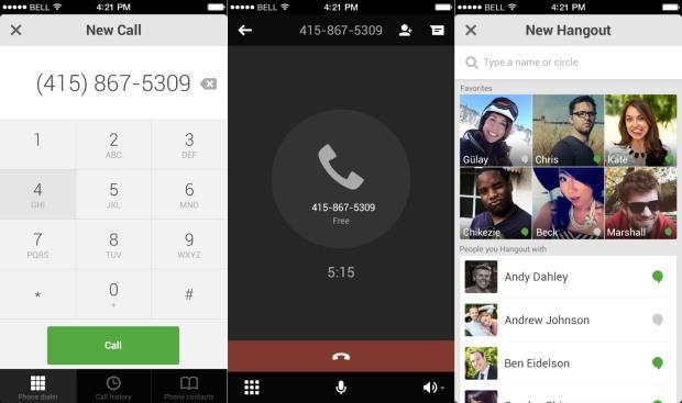 Google Hangouts për iOS mund të bëjë thirrje falas në SHBA dhe Kanada
