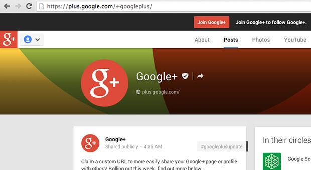 Google+ zgjeron URL-të e posaçme për më tepër njerëz