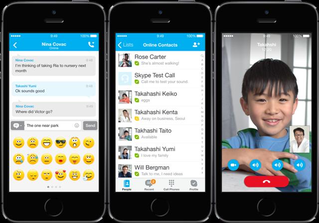 Microsoft nxjerr version të përmirësuar të Skype për iOS 7