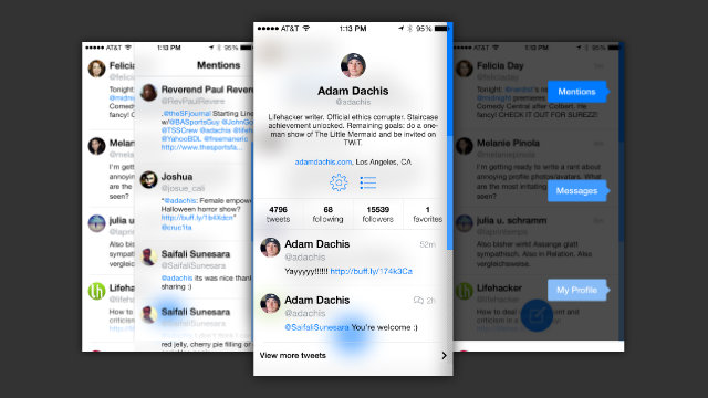 Tweet7 thjeshton Twitter-in me një ndërfaqe të përshtatshme në iOS 7