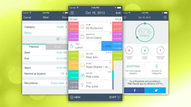 Aplikacioni TIME Planner ju ndihmon të menaxhoni kohën në një strukturë të thjeshtë