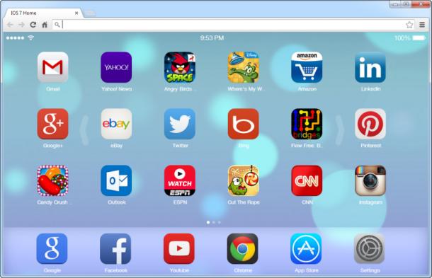 iOS 7 New Tab Page e bën dukjen e tabit të ri në Chrome si të pajisjes iPhone