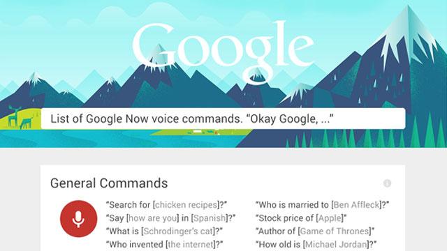 Mësoni mbi 60 komanda në Google Now vetëm përmes një infografiku