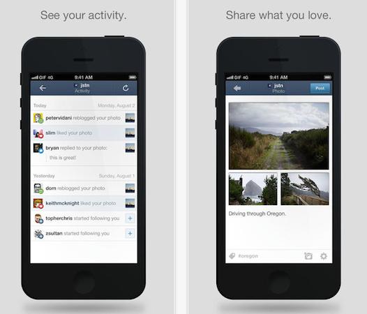 Tumblr përditësohet për iOS 7
