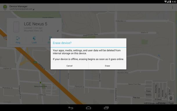 Google lançon aplikacionin Android Device Manager