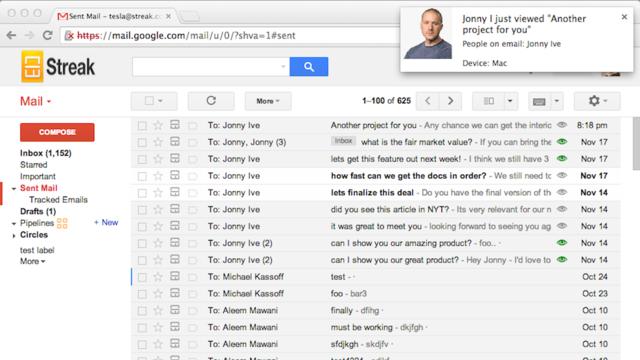 email streak