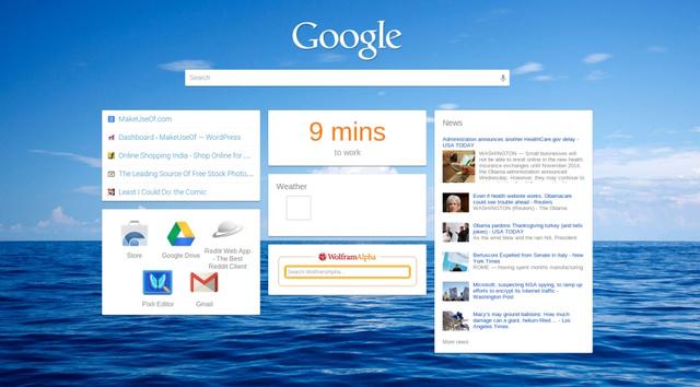 iChrome kthen faqen tuaj të tabit të ri në një pamje të ngjashme me të iGoogle