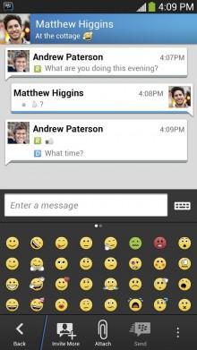 BlackBerry: BBM për përdoruesit e Android Gingerbread do të lançohet në shkurt