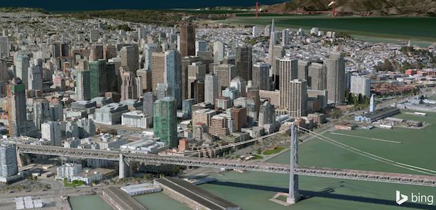 Bing Maps Preview tani iu mundëson të hulumtoni më tepër qytete në 3D