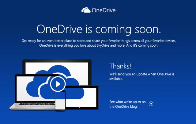 Microsoft lançon OneDrive