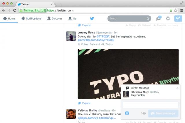Twitter.com shton njoftimet që hapen për favorizimet, ndjekësit dhe të tjera