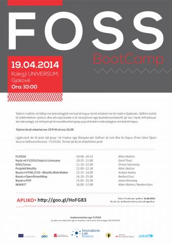 FLOSSK organizon së shpejti FOSS BootCamp në Gjakovë