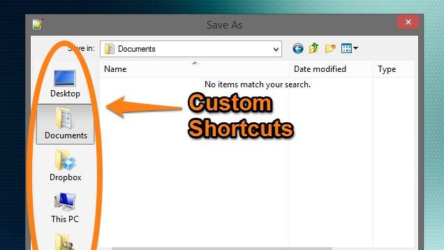 Si të shtoni shortcut-et tuaja personale në dritaren dialoguese të ruajtjes së skedarëve në Windows