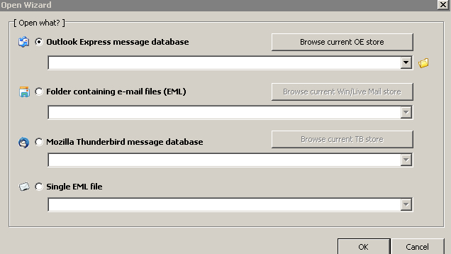 Mailviewer hap e-mail-et në Outlook, Thunderbird dhe Windows Live