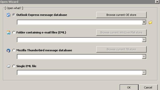 Mailviewer hap e-mail-et në Outlook, Thunderbird dhe Windows Live