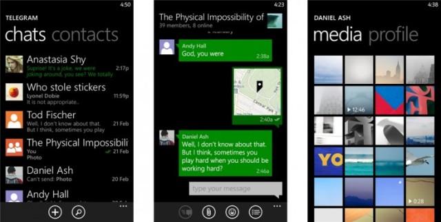 Rivali i WhatsApp, Telegram, tani vjen edhe për Windows Phone