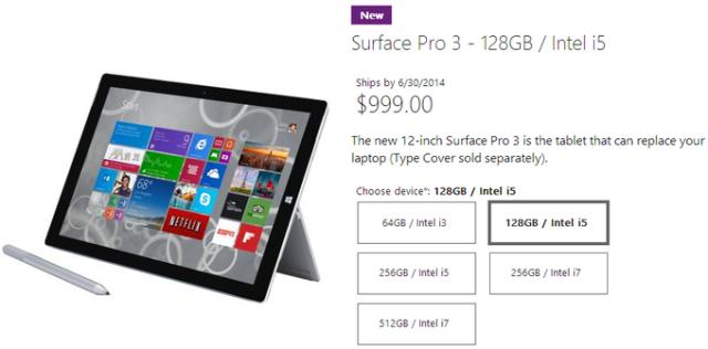 Vetem një model i Microsoft Surface Pro 3 do të ofrohet duke filluar nga 20 qershori